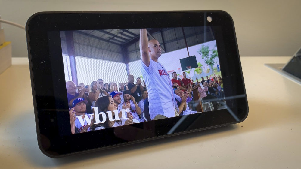 If you asked for WBUR reporting on a smart display, what could that look like? Project CITRUS set out to explore that question. (Jack Mitchell/WBUR)