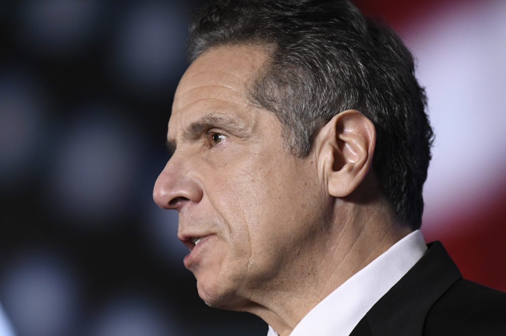 "On Feb. 28, 2021, New York Gov. Andrew Cuomo acknowledged for the first time that some of his behavior with women had been ""misinterpreted as unwanted flirtation,"" and he would cooperate with a sexual harassment investigation led by the state's attorney general. (Hans Pennink/Pool/AP)"