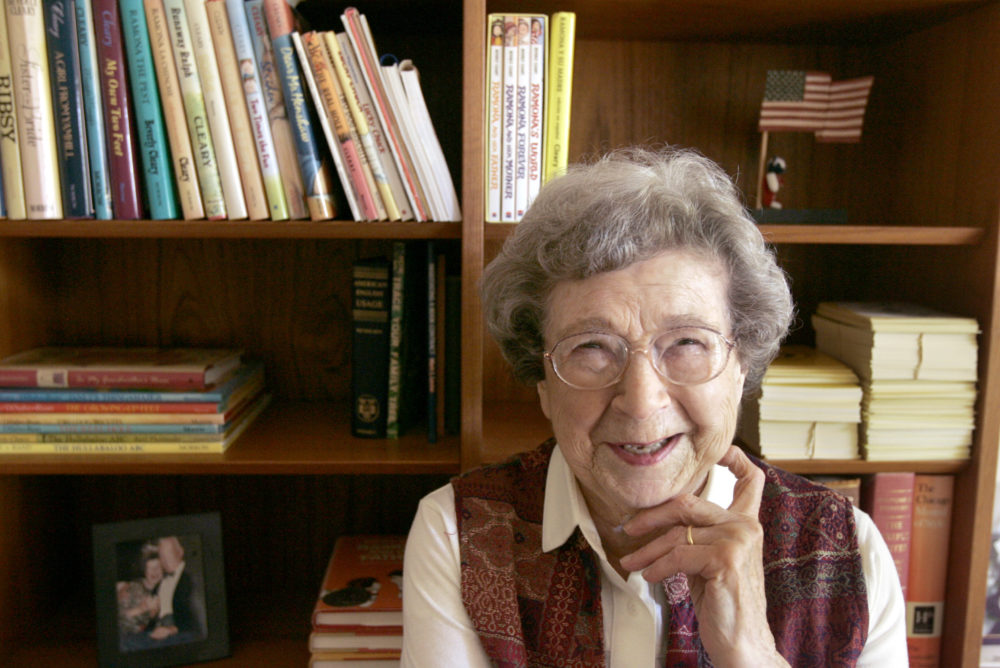 Beverly Cleary, then 90, at home in Carmel Valley, Calif. in 2006. (Christina Koci Hernandez/San Francisco Chronicle via Getty Images)
