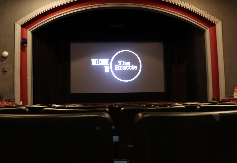 The interior of the Brattle Theatre. (Courtesy Brattle Film Foundation)