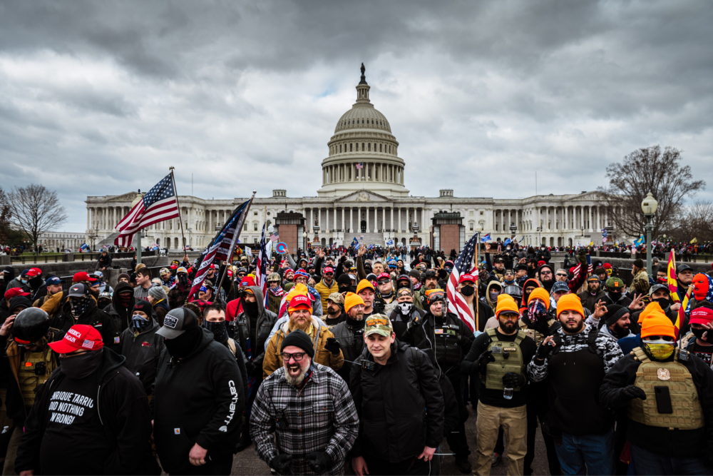 Pro-Trump protesters gather in front of the U.S. Capitol Building on Jan. 6, 2021 in Washington, D,C. (Jon Cherry/Getty Images)