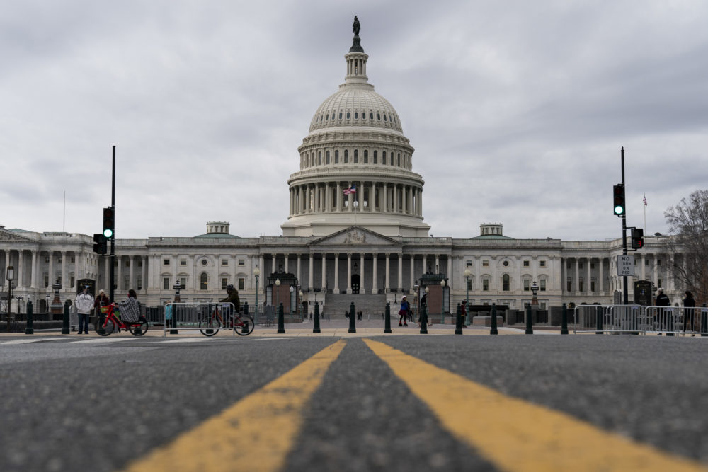 Clouds pass overt the Capitol Dome as the Senate resumes debate on overriding the veto of the National Defense Authorization Act (NDAA) on December 31, 2020 in Washington, DC. Senator Bernie Sanders (I-VT) was filibustering the NDAA. (Joshua Roberts/Getty Images)