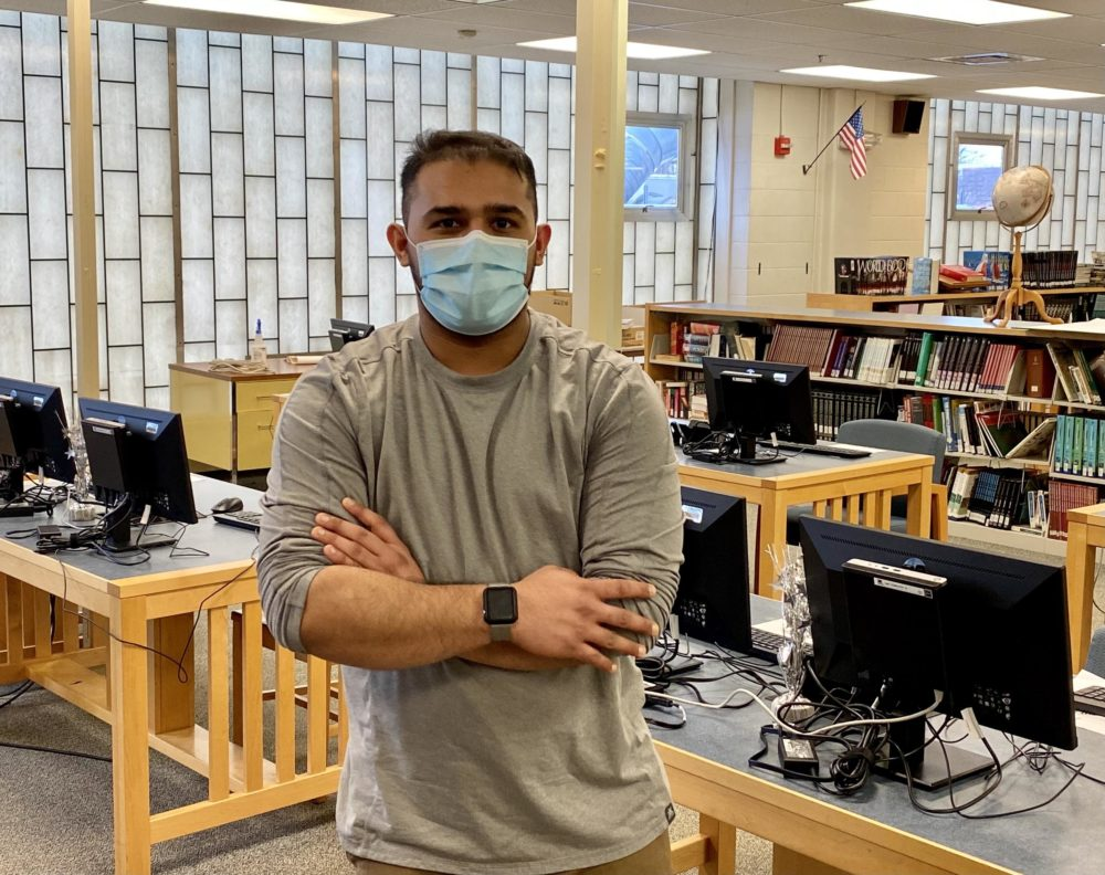 Sultan Abdul Aziz is a student at Manchester West High School in Manchester, New Hampshire.  (Sarah Gibson/NHPR)