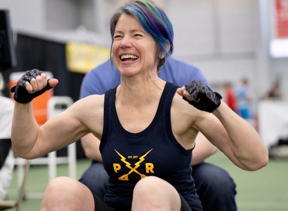 The author at a rowing competition just before the pandemic shutdown began, March 1, 2020. (Scullingfool Photography/Courtesy)