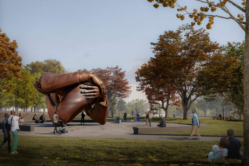 Hank Willis Thomas and MASS Design Group's proposed memorial. (Courtesy City of Boston)