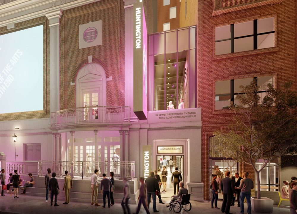 A rendering of the Huntington Theatre's planned entrance. (Courtesy Huntington Theatre Company.)