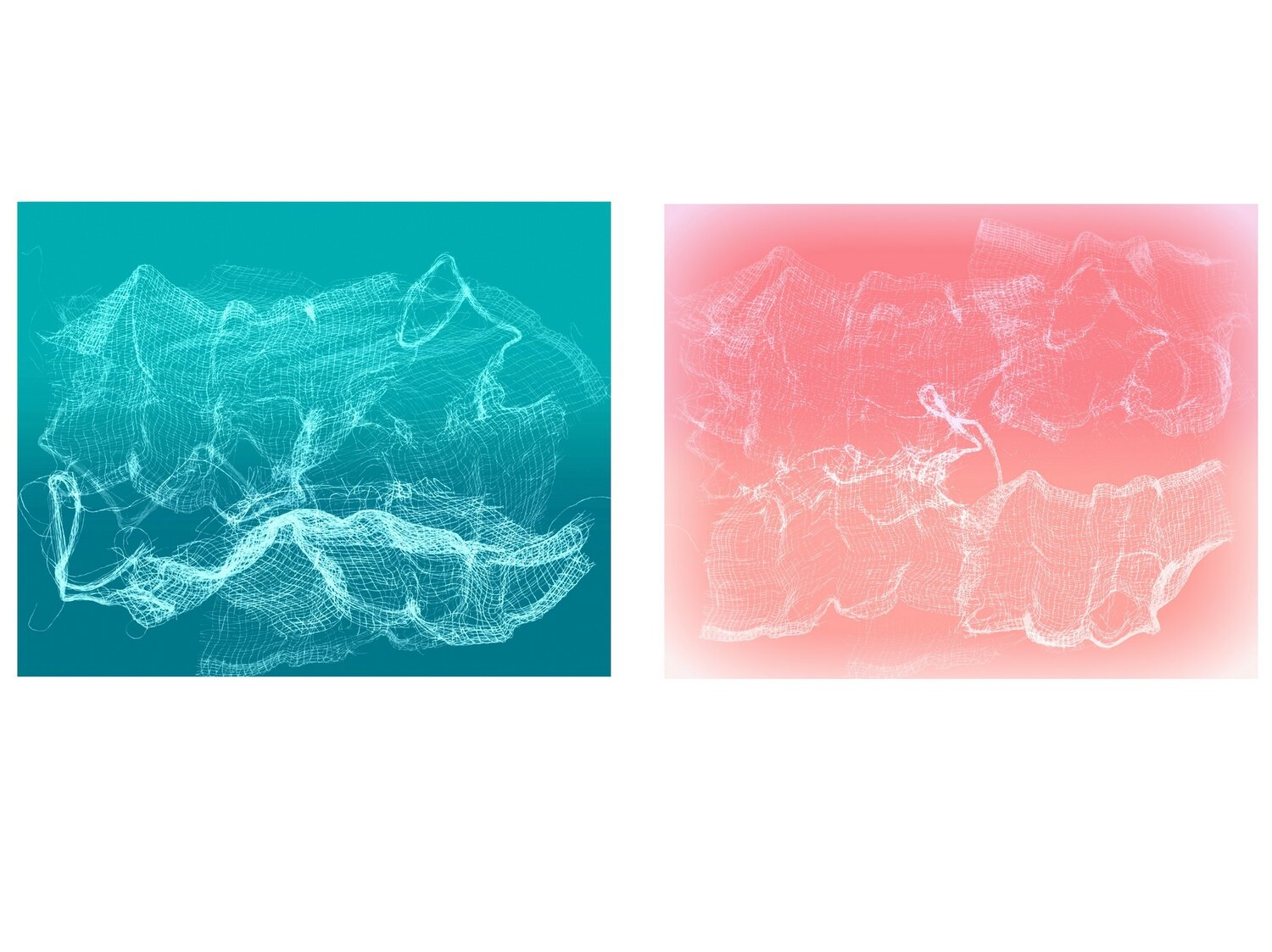 """Patty deGrandpre, """"Delicate Situations (green & pink)."""" (Courtesy of the artist)"""