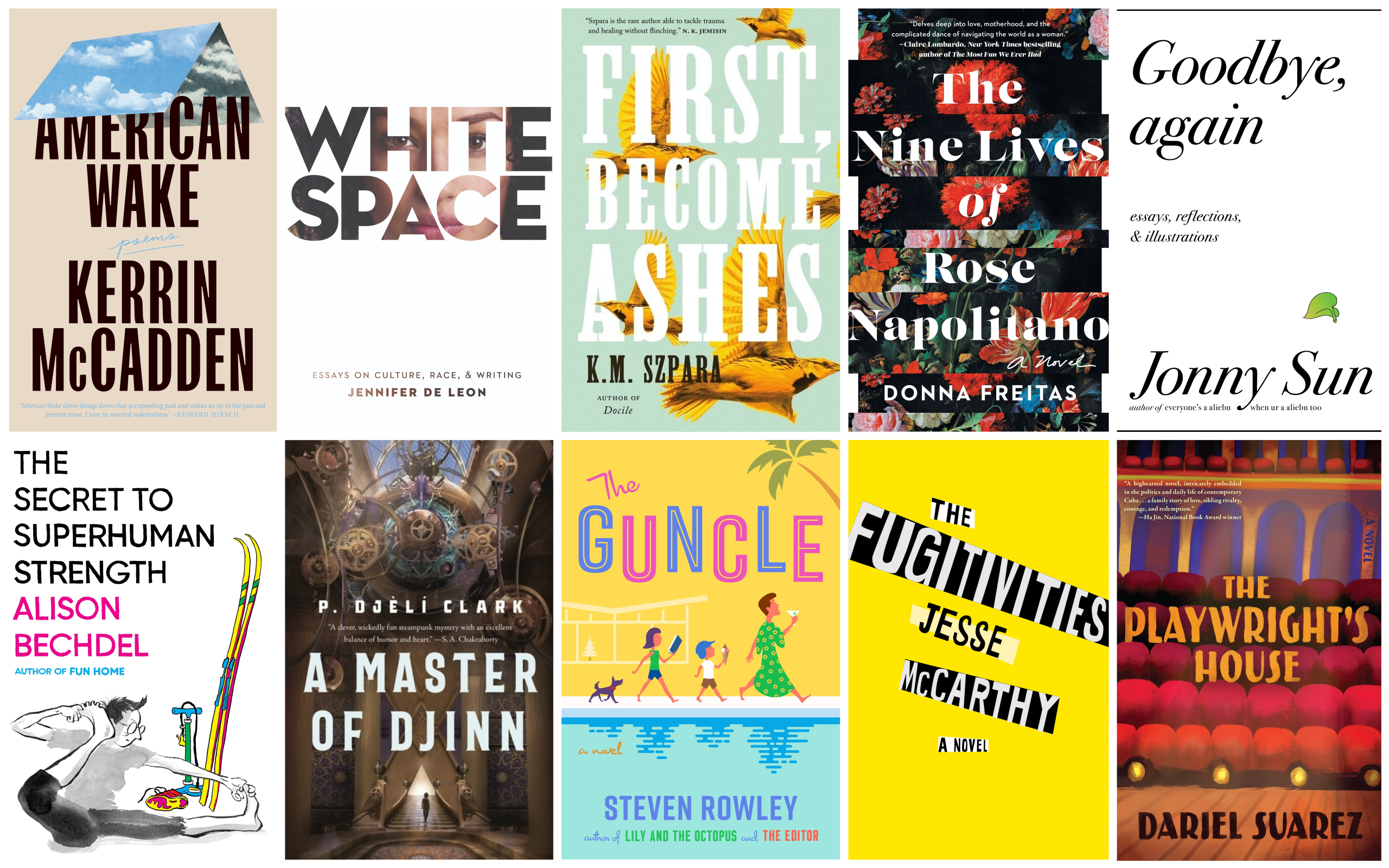 The ARTery's literature writer Katherine Ouellette selects 10 books to read this spring. (Courtesy the publishers)