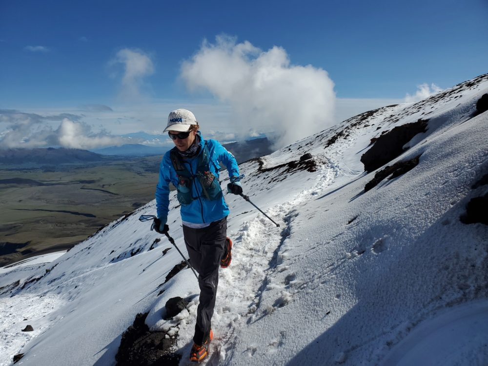 Runner Tyler Andrews takes on his biggest challenge yet — trying to beat the fastest known times on 10 of South America's most difficult peaks. (Courtesy of Tyler Andrews)