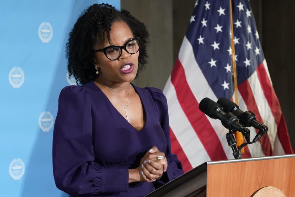 Acting Mayor Kim Janey. (Elise Amendola/AP)