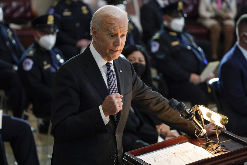President Joe Biden on April 13, 2021. (J. Scott Applewhite, Pool/AP)
