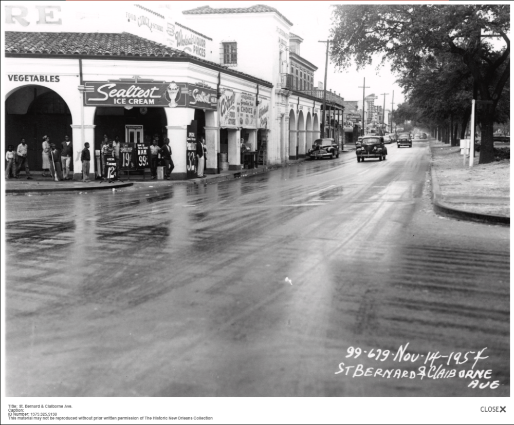 North Claiborne Avenue in 1954. (Courtesy of Amy Stelly)