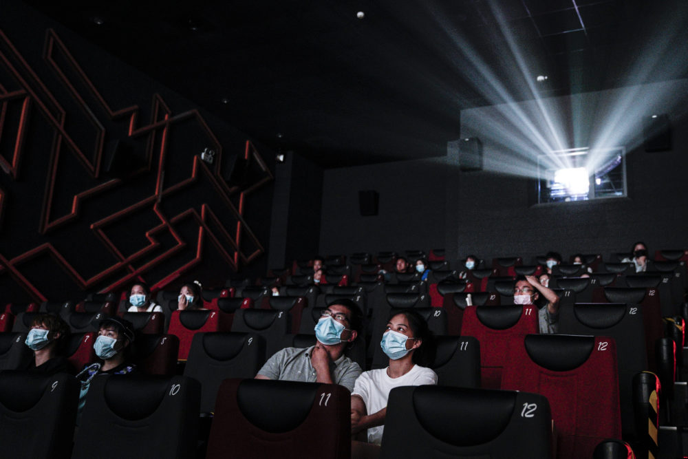 Movie watchers in a cinema on July 20, 2020, in China. (Getty Images)