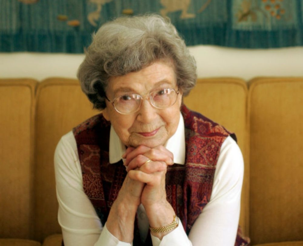 Beverly Cleary at home in Carmel Valley, California in 2006. Cleary died on March 25, 2021. (Christina Koci Hernandez/San Francisco Chronicle via Getty Images)