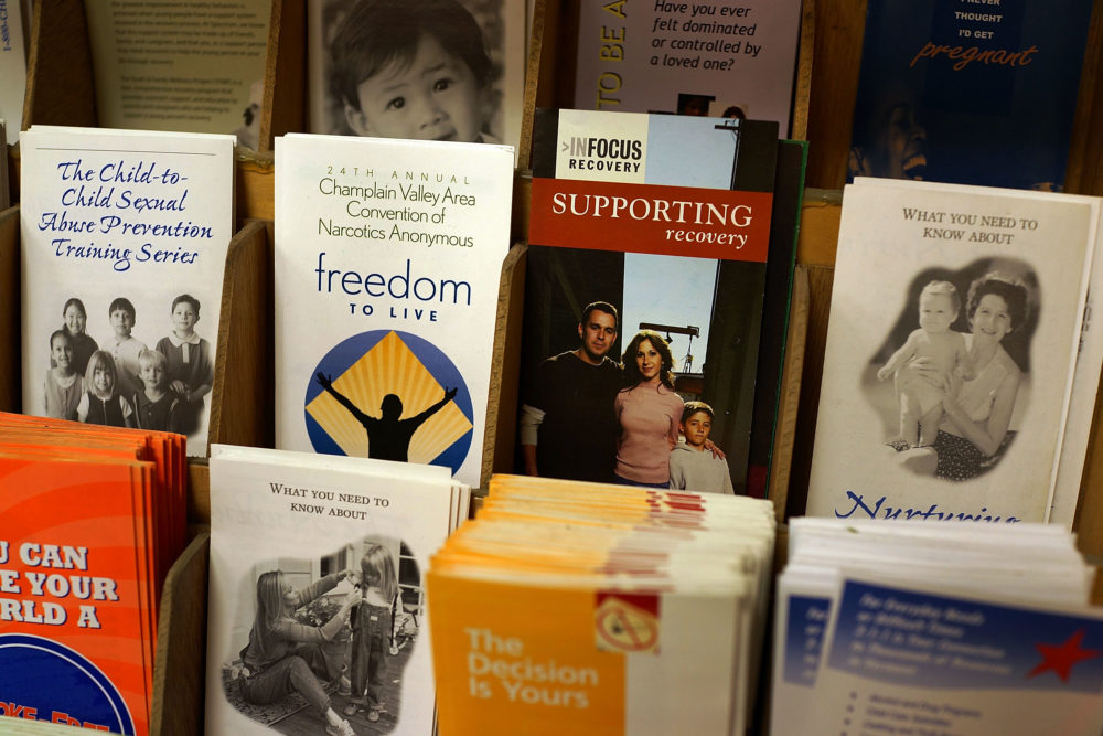 Addiction recovery brochures. (Spencer Platt/Getty Images)