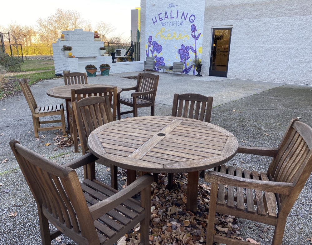 "The ""healing garden"" at the Sexual Assault Center gives clients a way to have therapy outside amid the pandemic. (Natasha Senjanovic)"