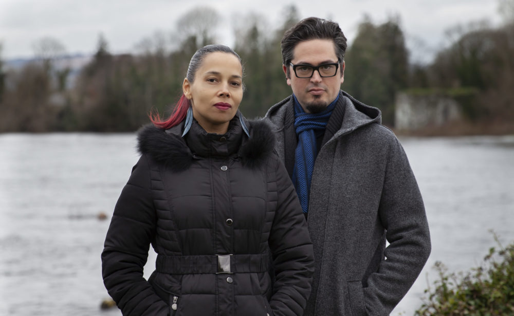 Rhiannon Giddens and Francesco Turrisi. (Photo by Karen Cox)