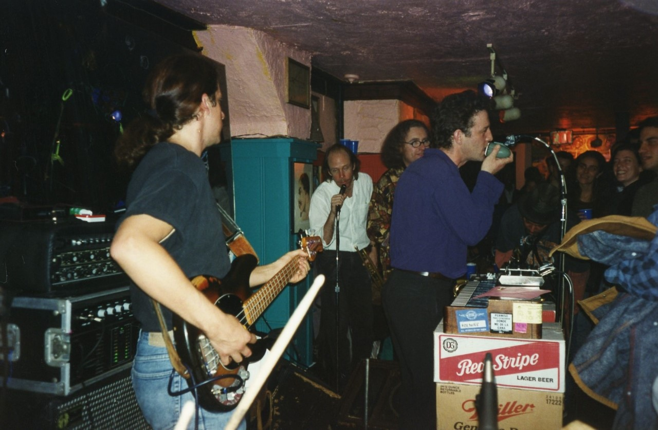 Members of Hypnosonics play a show at Charlie's Tap in Cambridge in an undated photo. (Courtesy Mike Rivard)