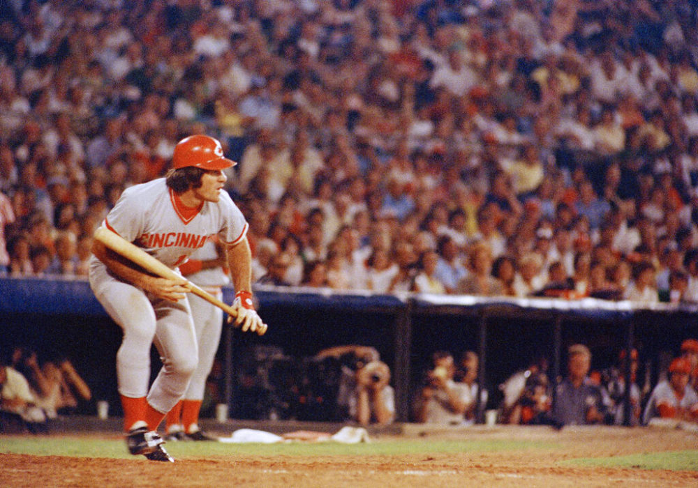 In this 1978 photo, Cincinnati Reds Pete Rose at bat against the Atlanta Braves. Rose says cheating on the field is bad for the game, and the one thing he never did with his bets is change the outcome of a game. (AP Photo, File)