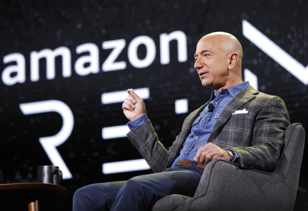 Jeff Bezos speaks at the the Amazon re:MARS convention in Las Vegas. (John Locher, File/AP Photo)