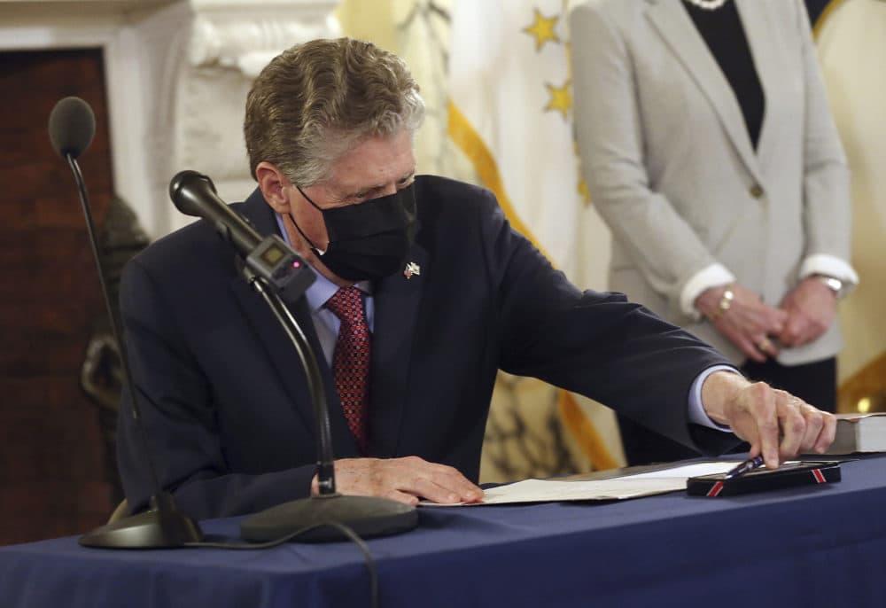 Rhode Island Gov. Daniel J. McKee. (Bob Breidenbach/Providence Journal via AP, Pool)