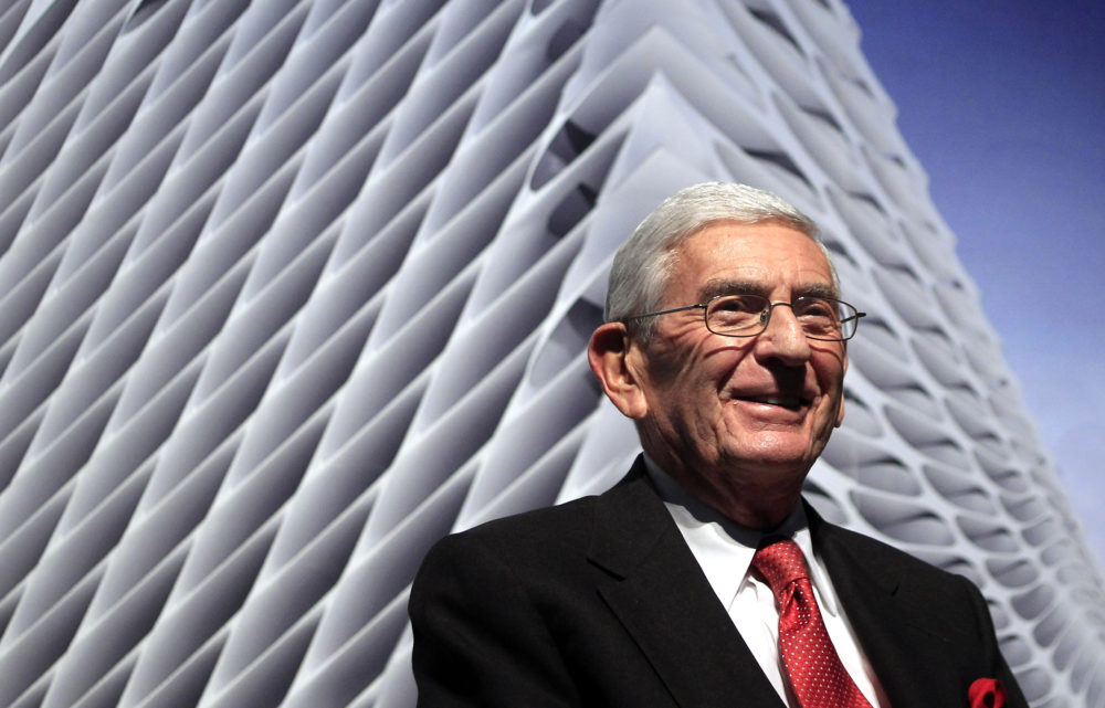 In this Thursday, Jan. 6, 2011 photo, Billionaire Eli Broad attends the unveiling of the Broad Art Foundation contemporary art museum designs in Los Angeles. (Jae C. Hong/AP)