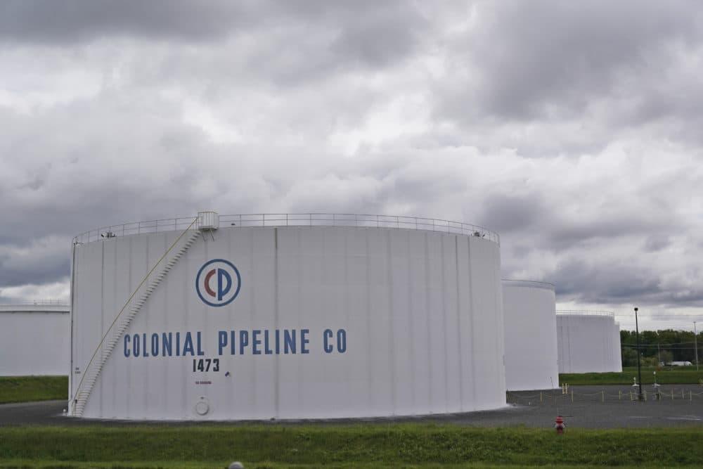 Colonial Pipeline storage tanks are seen in Woodbridge, N.J., Monday, May 10, 2021. (Seth Wenig/AP)