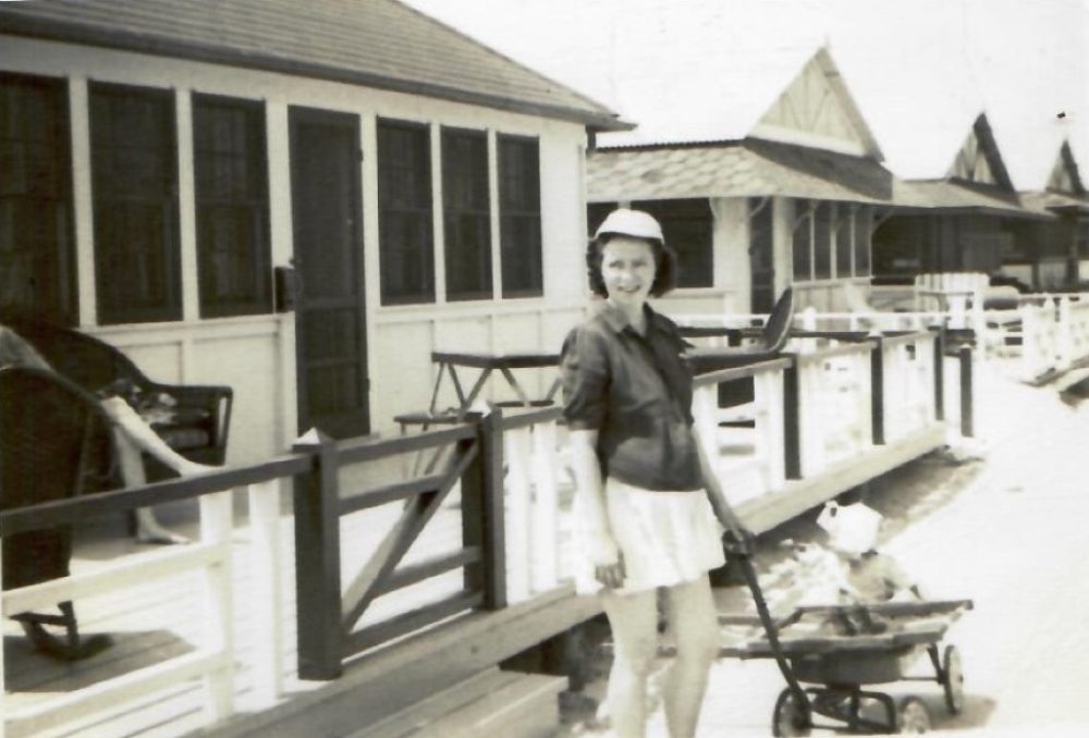 The author's grandmother, Marie Moran, in Breezy Point, 1947.