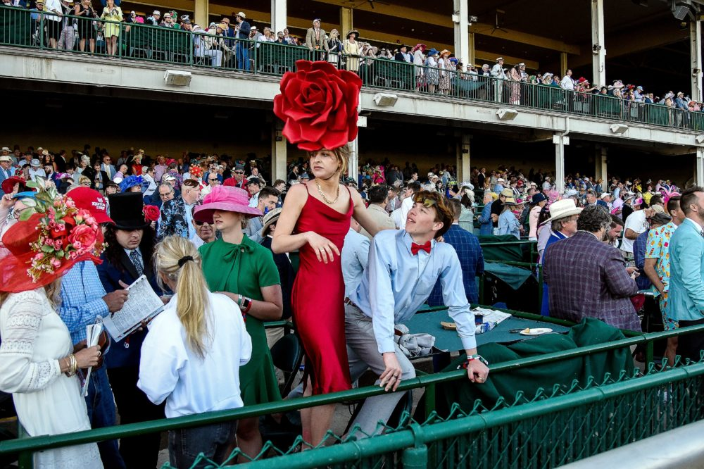 Spectators begin to disperse following the 147th running of the Kentucky Derby at Churchill Downs on May 01, 2021 in Louisville, Kentucky. (Sam Mallon/Getty Images)