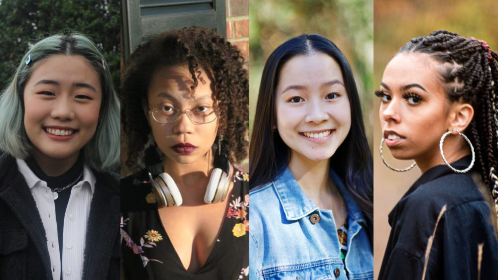 Left to right: Serena Yang, Alora Young, Alexandra Huynh and Faye Harrison. (Courtesy of Urban Word/National Youth Poet Laureate Program)