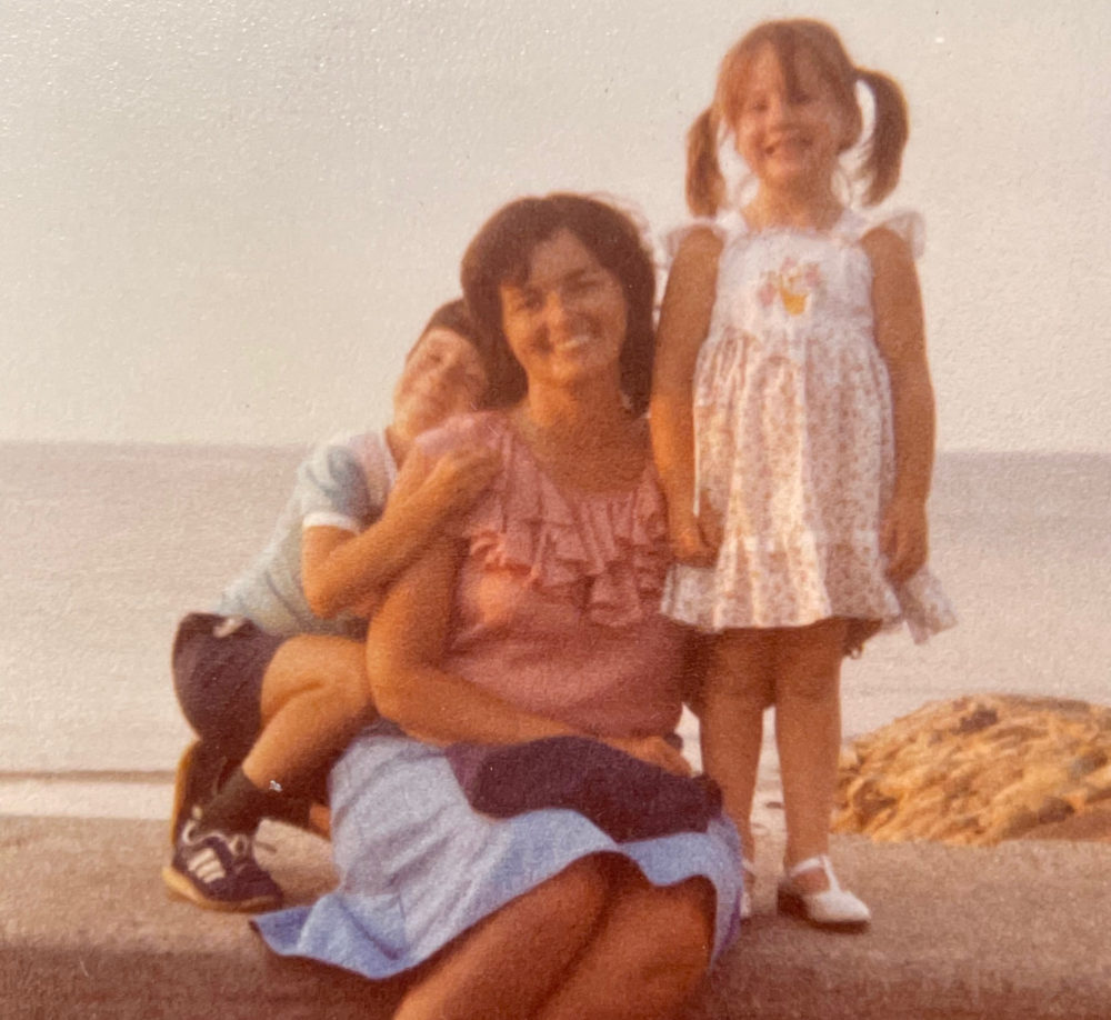 The author with her brother, Kevin, and mother, Nancy, in Sandwich, Mass, 1981. (Courtesy)