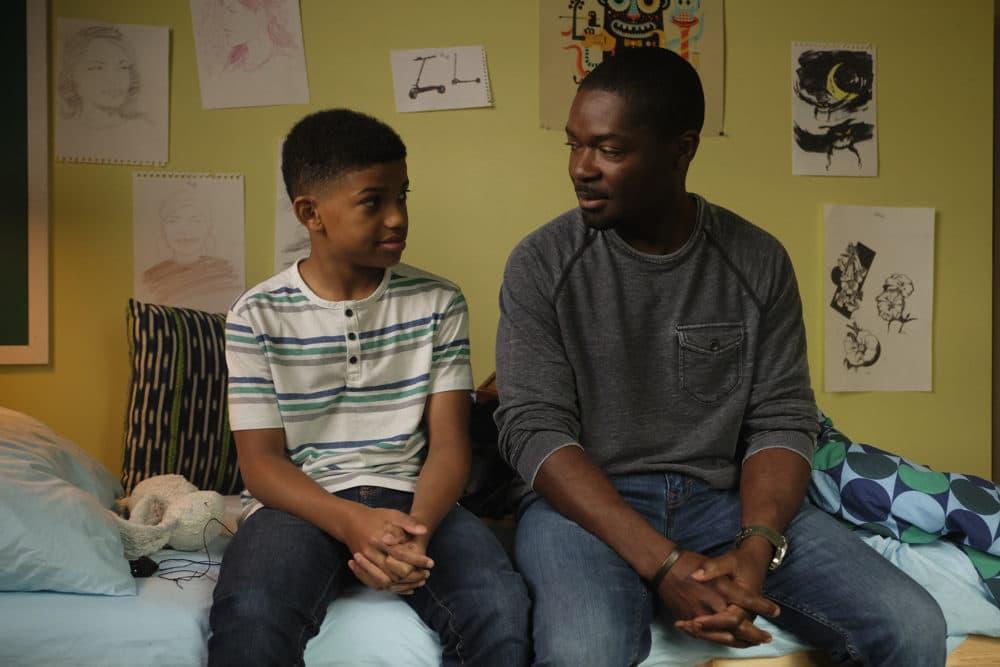 "Lonnie Chavis (left) as Gunner Boone and David Oyelowo as Amos Boone in the adventure and drama film ""The Water Man,"" an RLJE films release. (Karen Ballard)"