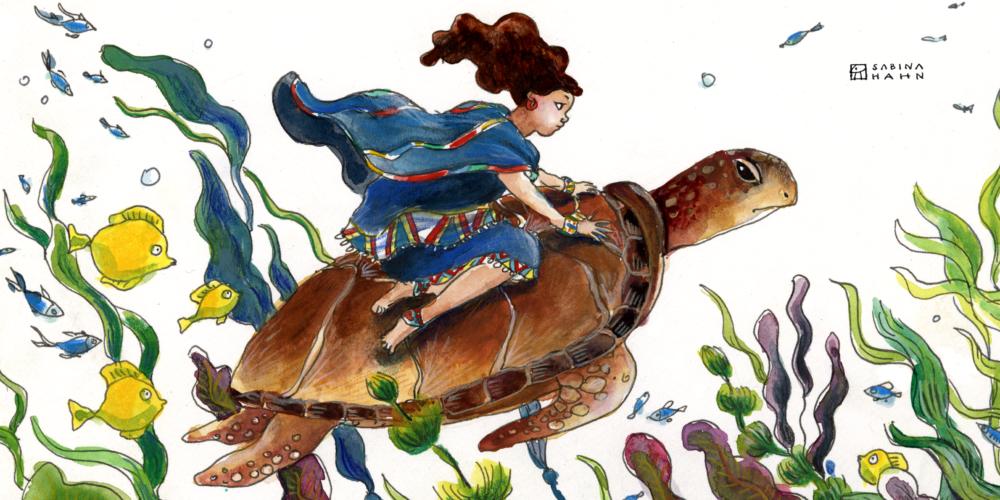 "(""She Tells Seashells"" by Sabina Hahn)"