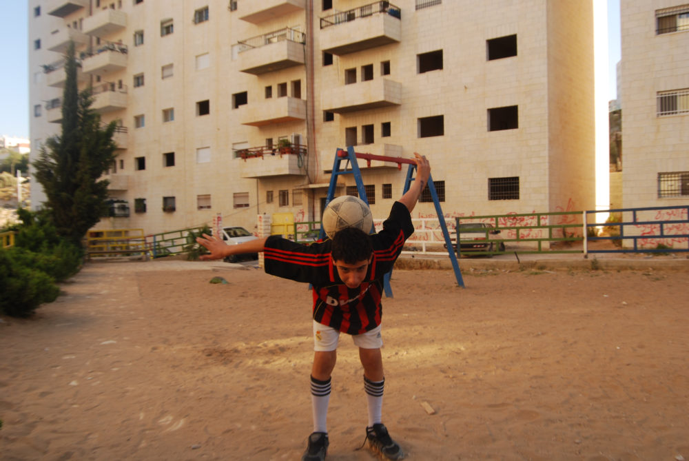 A photo taken by the author while playing soccer in a village outside of Bethlehem in the West Bank. (Courtesy)