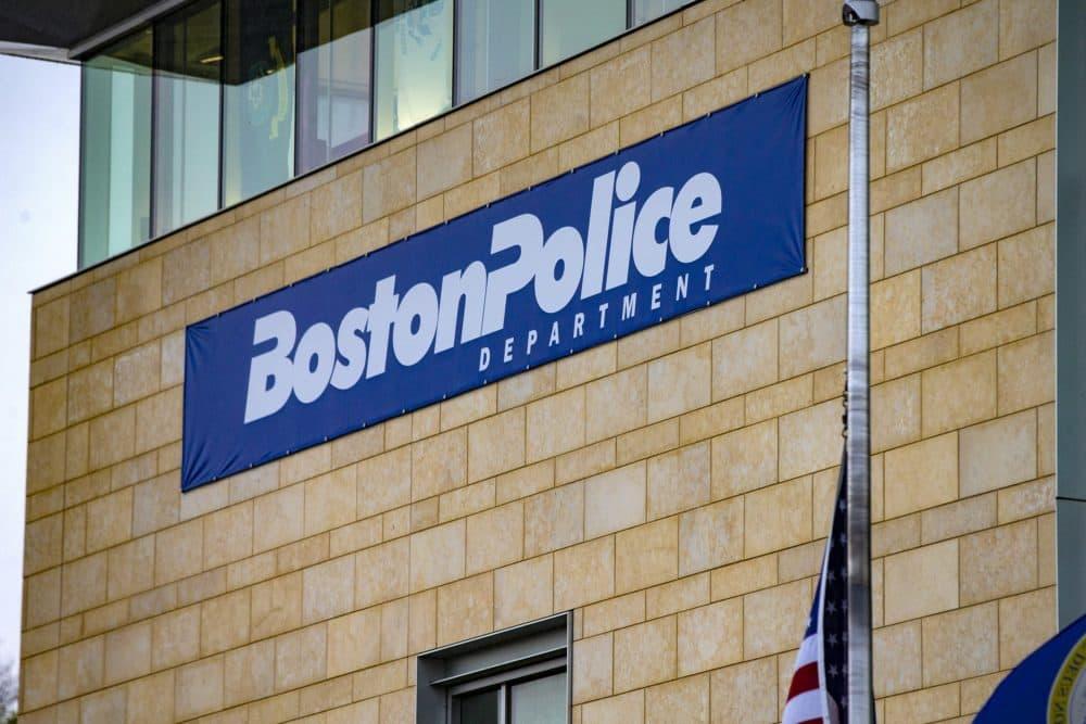 Boston Police District B-2 station in Roxbury. (Jesse Costa/WBUR)