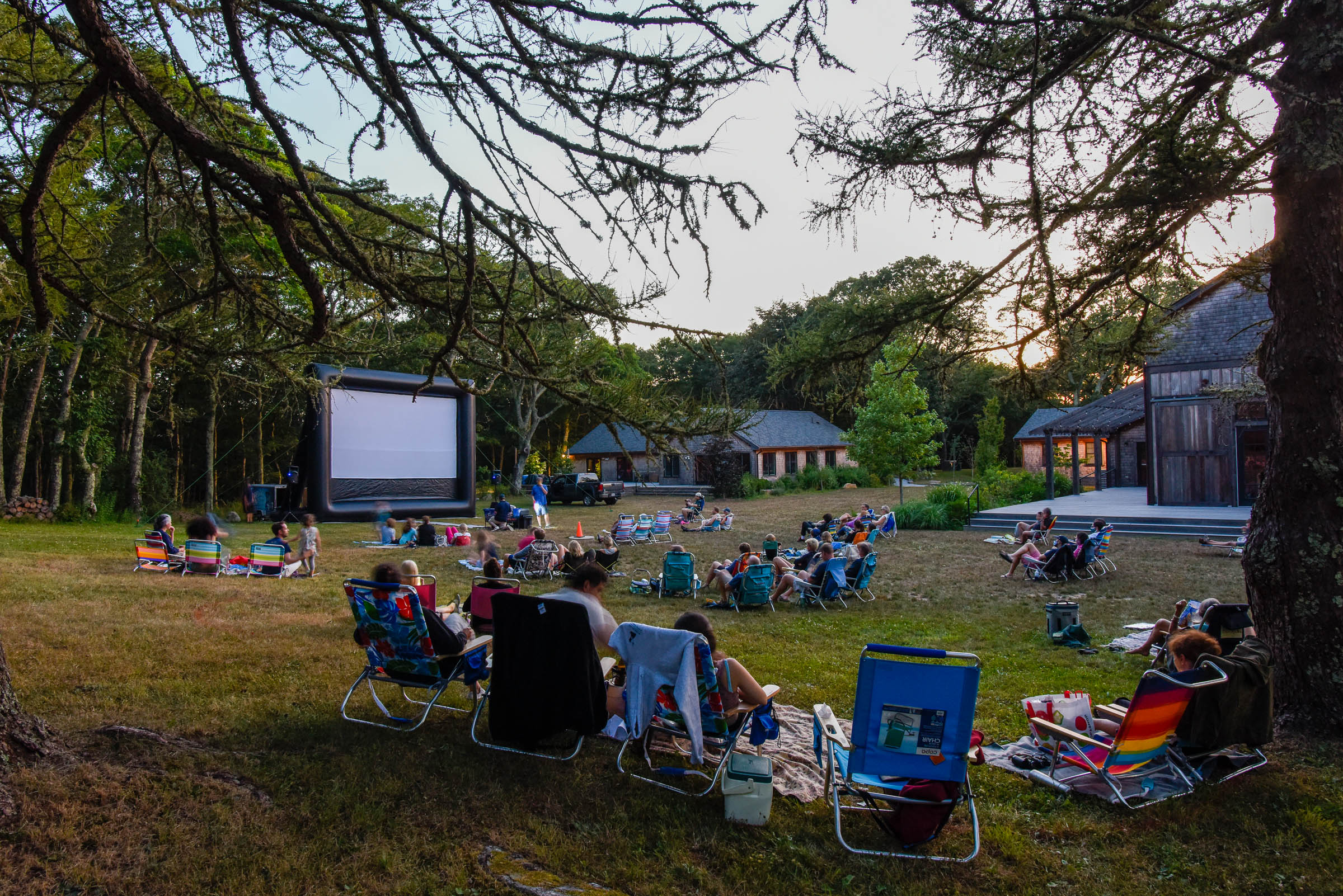 A photo from a 2020 screening hosted by the Martha's Vineyard Film Society's Outdoor Summer Film Series. (Courtesy)