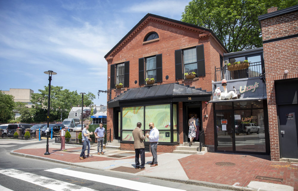 The store on Church Street in Harvard Square which Leah Samura plans to open this fall as the Yamba Boutique. (Robin Lubbock/WBUR)