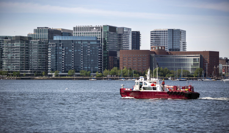 Fan Pier in the Boston Seaport. (Robin Lubbock/WBUR)