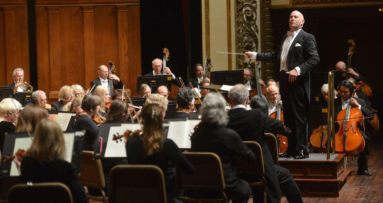 In this file photo, Kevin Rhodes conducts the Springfield Symphony Orchestra. (The Republican/MassLive.com)