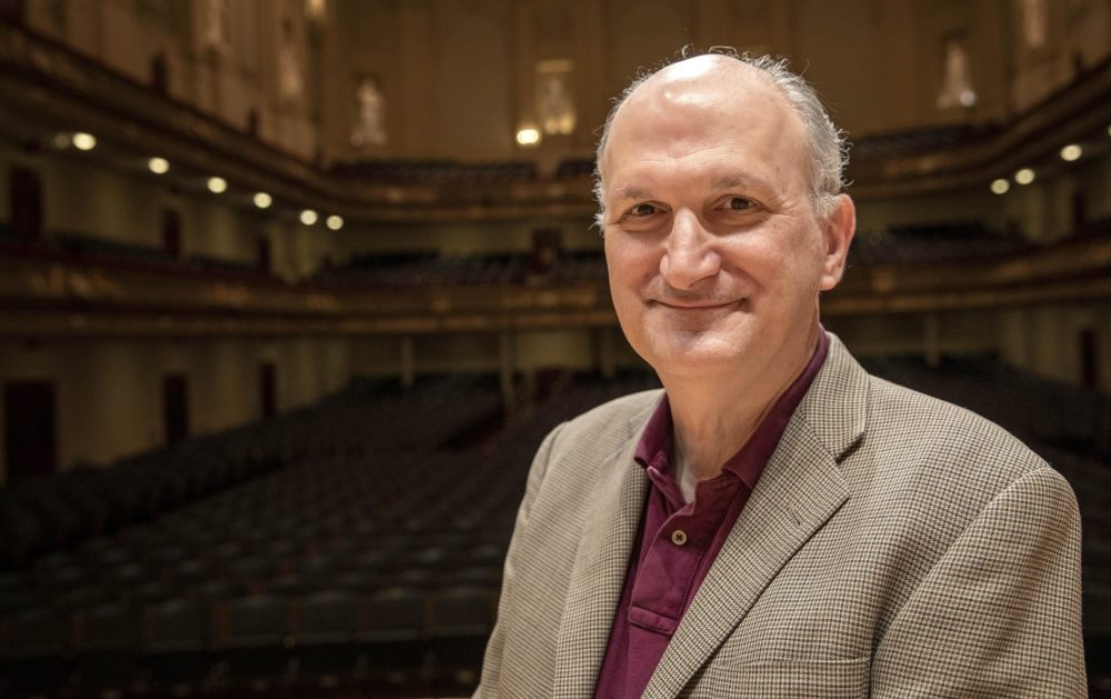 The Boston Symphony Orchestra's retiring president and CEO, Mark Volpe, at Symphony Hall. (Robin Lubbock/WBUR)