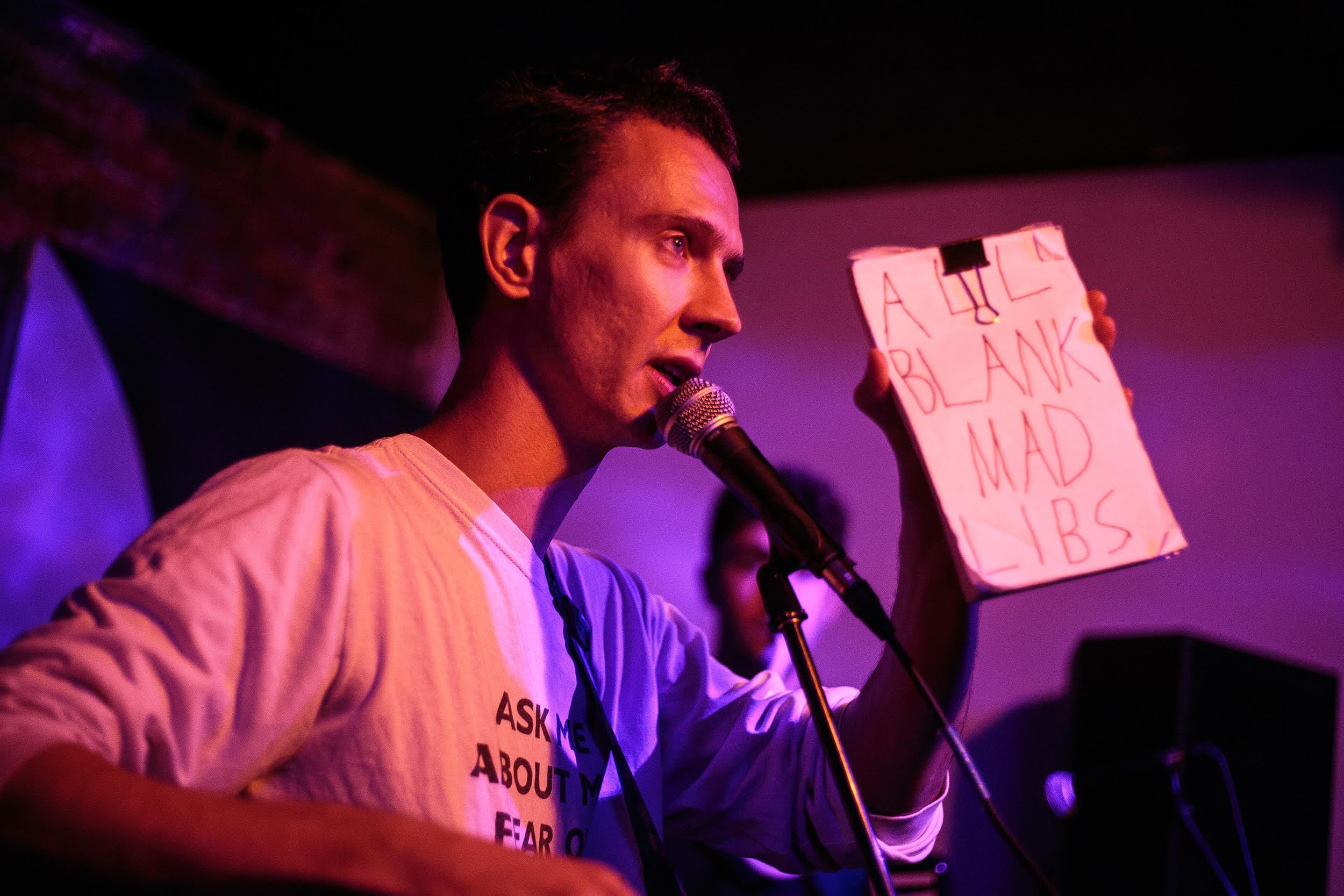Noah Britton performing at the Dorchester Art Project. (Courtesy Ben Stas)
