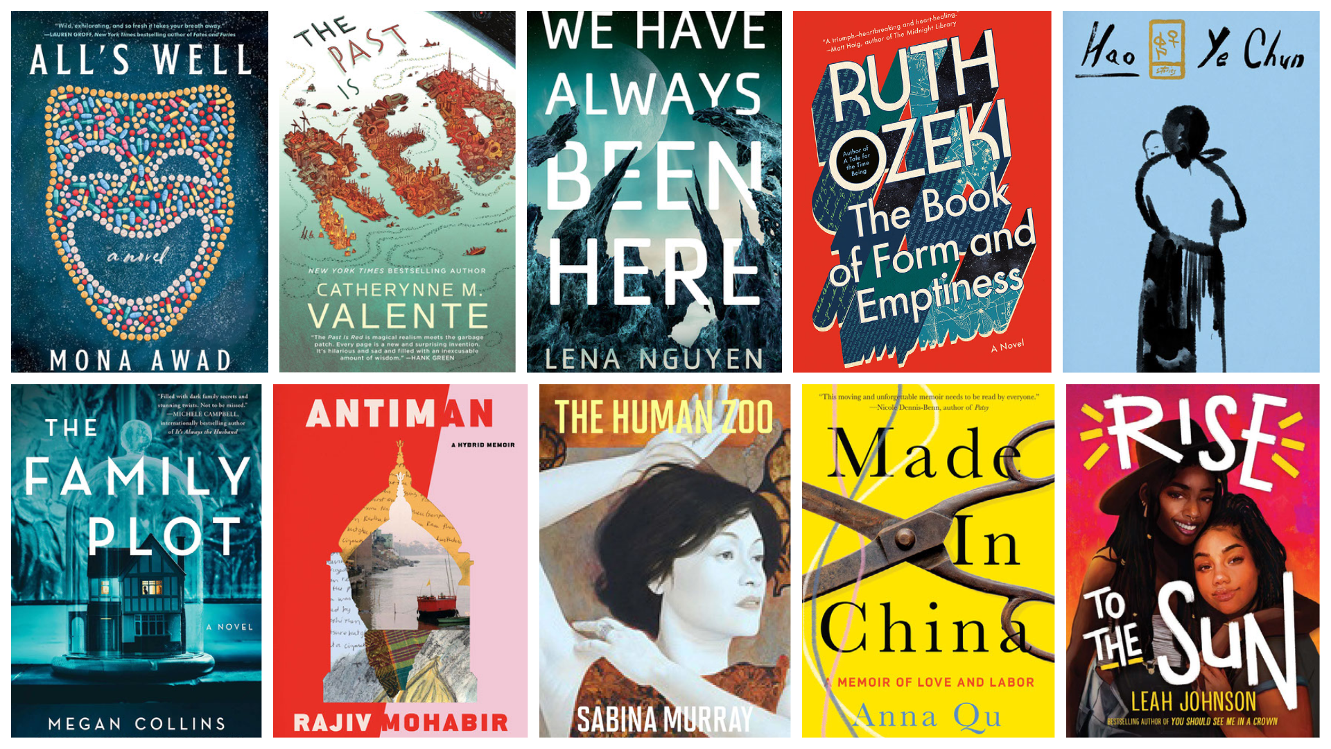 The ARTery's literature writer Katherine Ouellette selects 10 books to read this summer. (Courtesy the publishers)