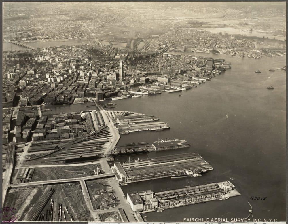 South Boston, Commonwealth Pier, 1925. Boston Pictorial Archive, Boston Public Library