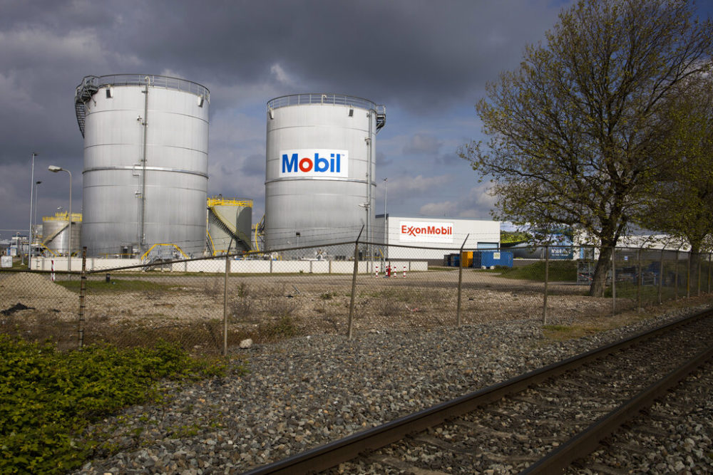 View of Exxon Mobil storage tanks of the petrochemical industry in the port of Rotterdam, Netherlands. (Peter Dejong/AP Photo)