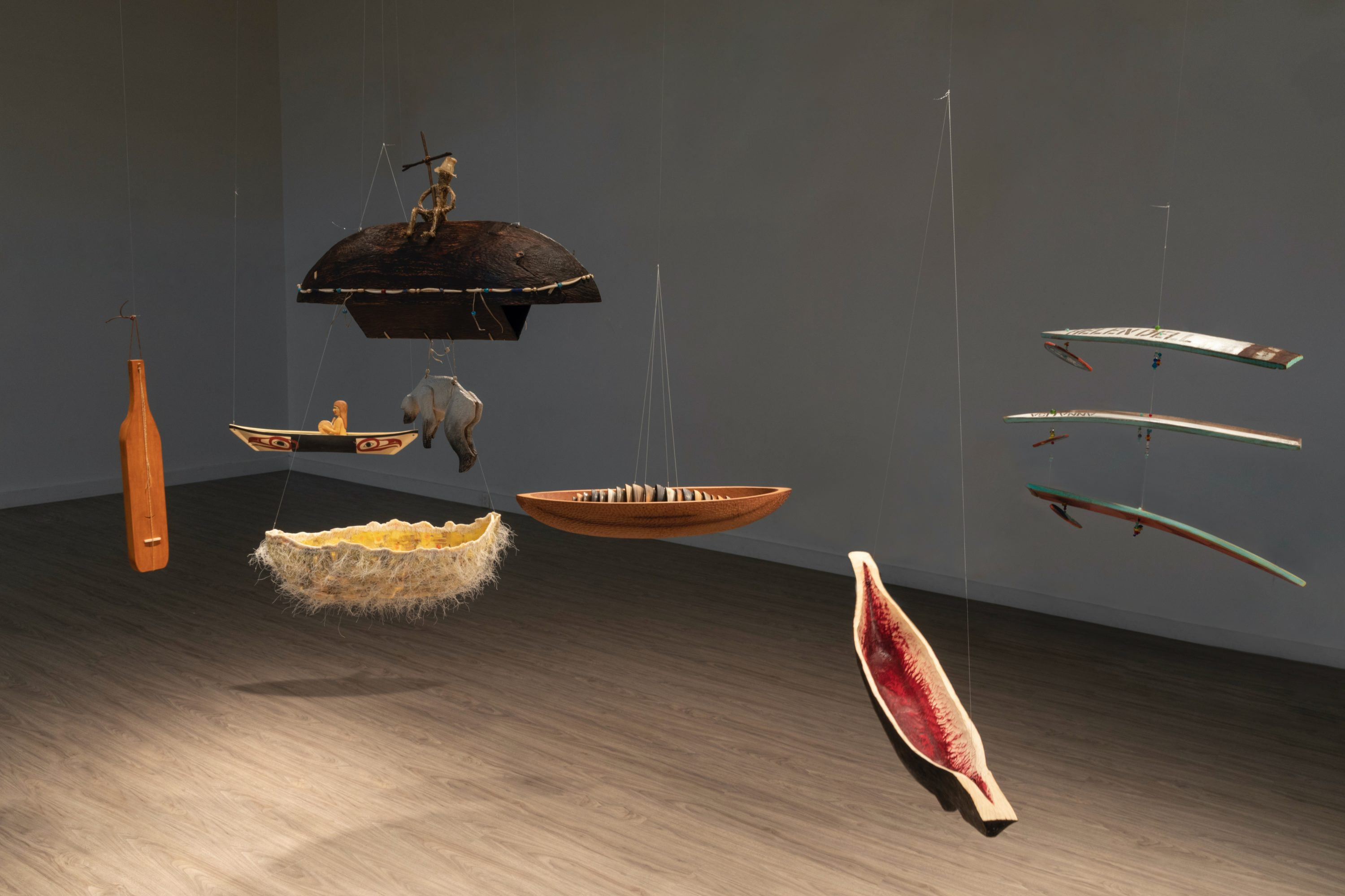 """An installation view from Fuller Craft's """"Another Crossing."""" (Courtesy Chris Arend)"""