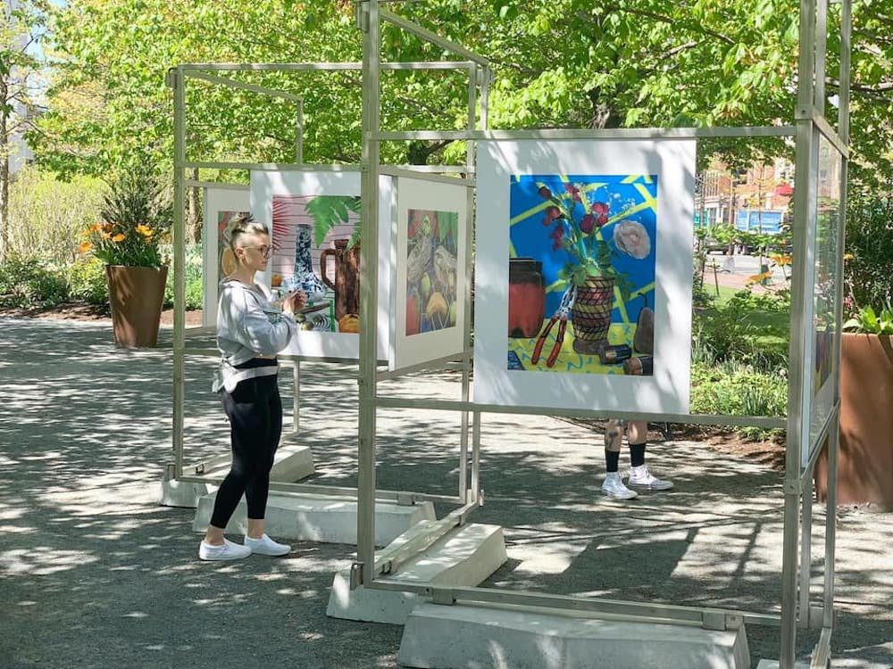 Daniel Gordon's still lifes are exhibited along the Greenway. (Courtesy)