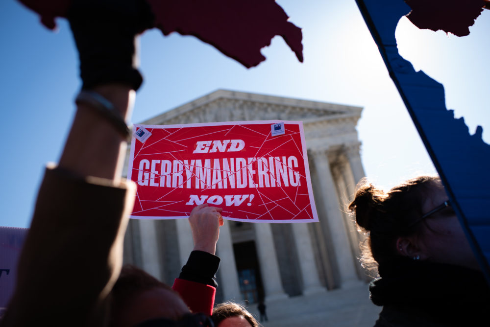 A Fair Maps Rally held in front of the Supreme Court in 2019. (Sarah L. Voisin/The Washington Post via Getty Images)