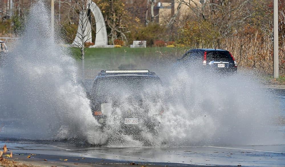Flood waters cover Morrissey Boulevard in November 2020.   (Matt Stone/ MediaNews Group/Boston Herald via Getty Images)