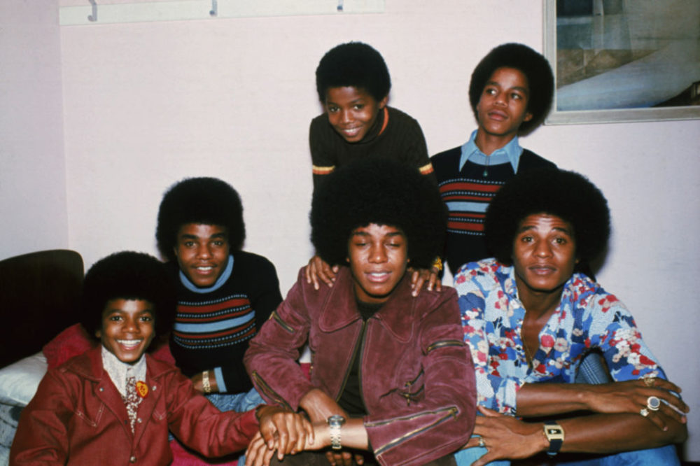The Jackson brothers — Jackie, Tito, Jermaine, Marlon, Michael and Randy — in London in 1972. (Keystone/Hulton Archive/Getty Images)