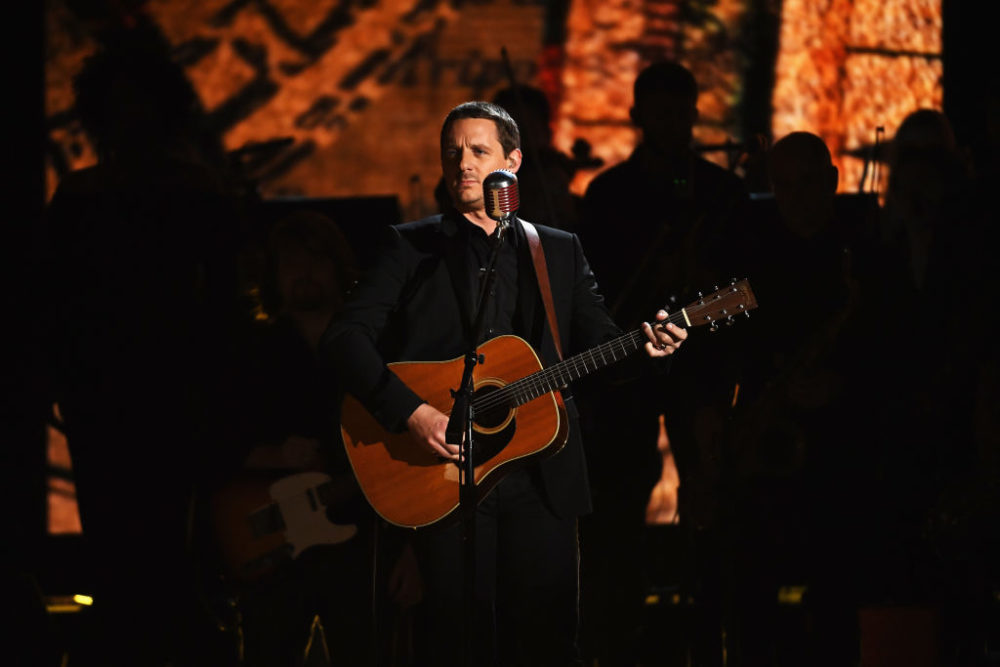 Sturgill Simpson performs onstage during The 59th Grammy Awards at Staples Center in 2017 in Los Angeles, California. (Kevork Djansezian/Getty Images)